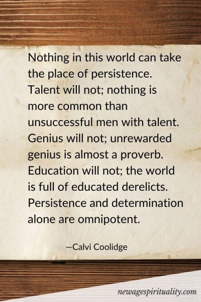 Nothing in this world can take the place of persistence. Talent will not; nothing is more common than unsuccessful men with talent. Genius will not; unrewarded genius is almost a proverb. Education will not; the world is full of educated derelicts. Persistence and determination alone are omnipotent.