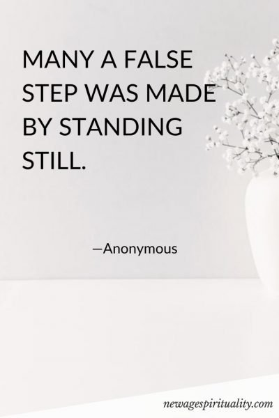 MANY A FALSE STEP WAS MADE BY STANDING STILL.