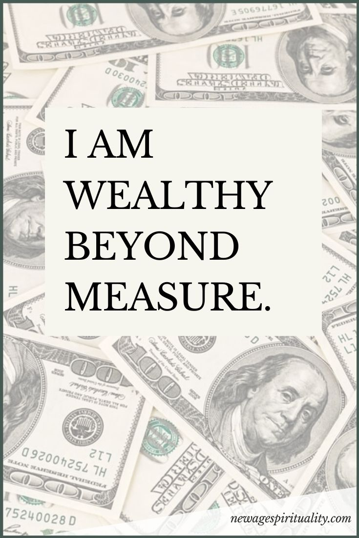 i am wealthy beyond measure.