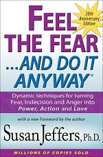 Feel the fear do it anyway book cover by Susan Jeffers