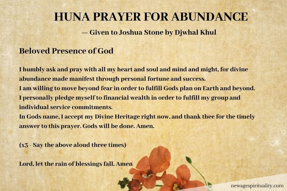 The Huna Prayer for abundance
