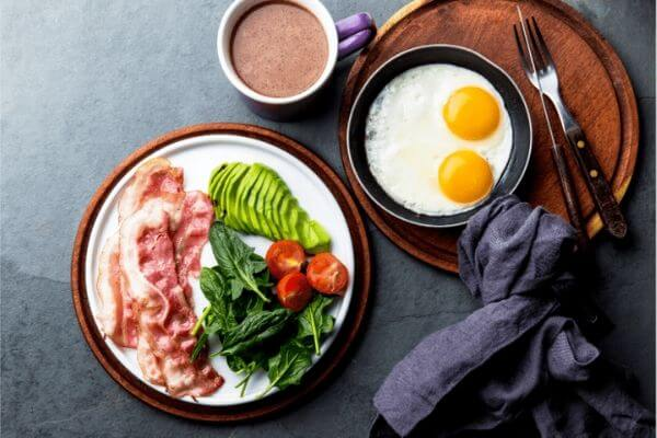 Eggs and bacon Food low carb