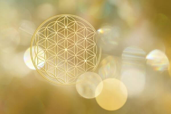 Flower of life golden