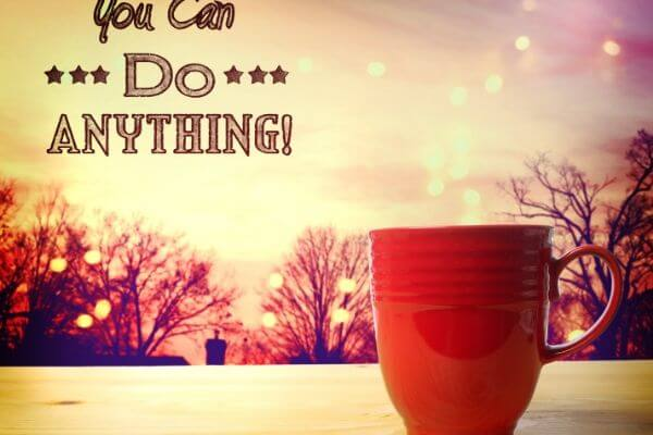 You can do anything! banner Manifest your dreams concept